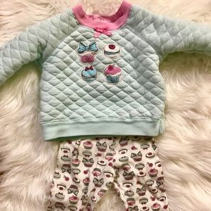 Carters cupcake sweater outfit 6-9m
